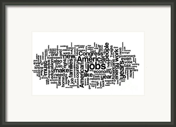Obama State Of The Union Address - 2013 Framed Print By David Bearden