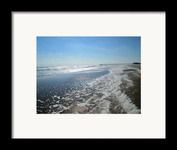 Ocean Foam Framed Print By Silvie Kendall