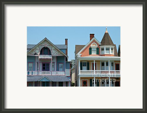 Ocean Grove Gingerbread Homes Framed Print By Anna Lisa Yoder