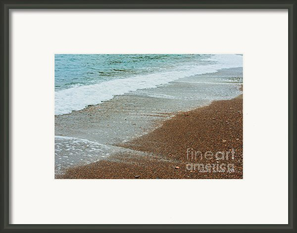Ocean Wave Color Palette Framed Print By Artist And Photographer Laura Wrede
