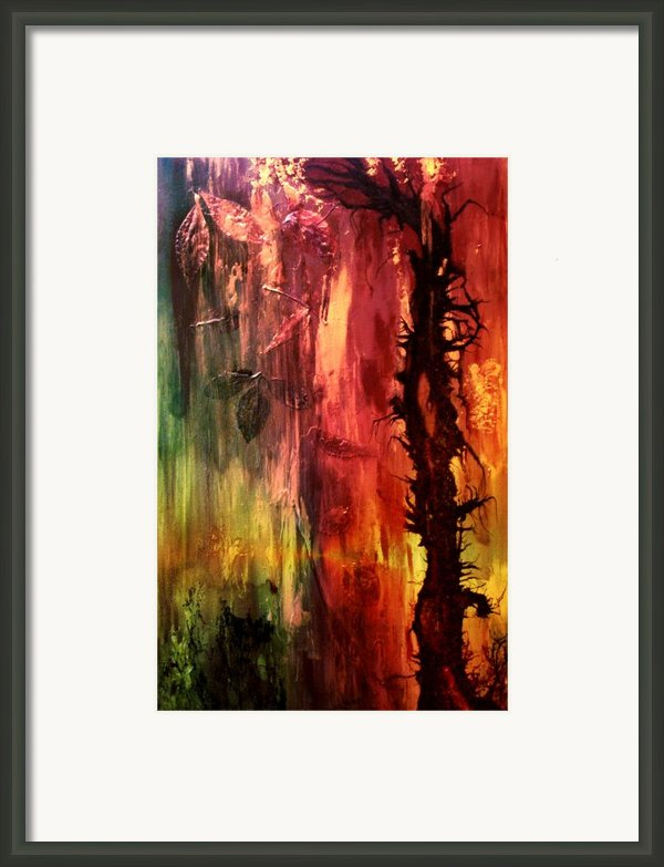 October Abstract Framed Print By Patricia Motley