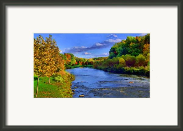 October On The Cuyahoga Framed Print By Dennis Lundell