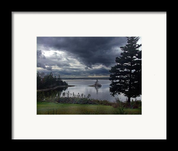 October Sky Framed Print By George Cousins