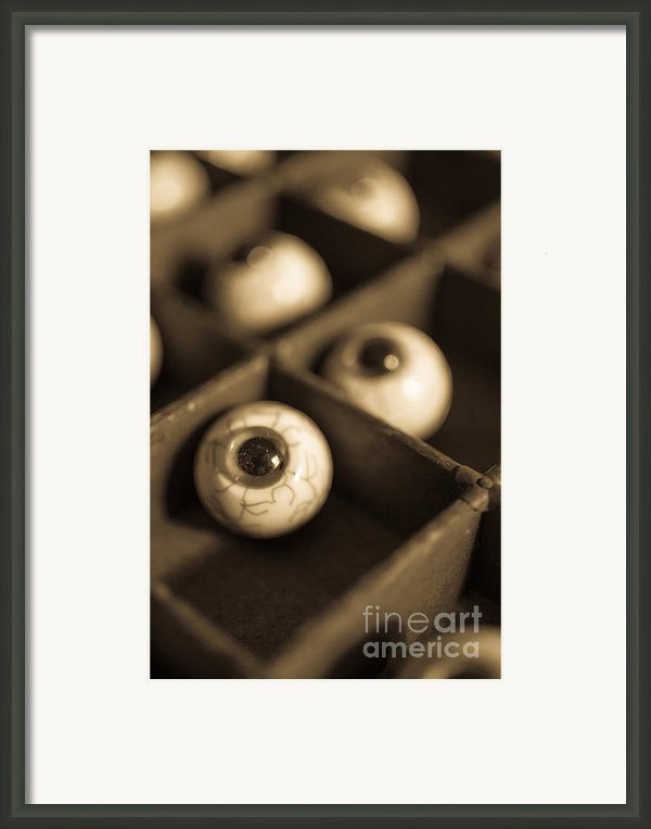 Oddities Fake Eyeballs Framed Print By Edward Fielding