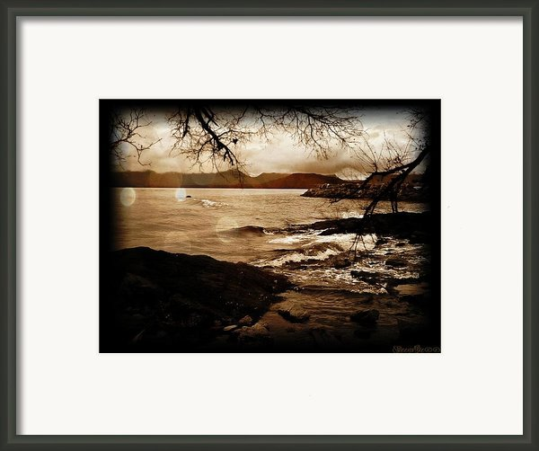 Off The Shore Framed Print By Sheena Pike