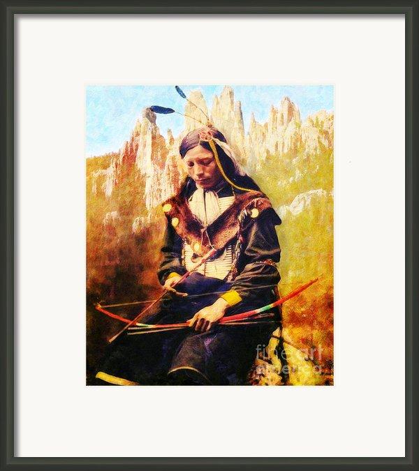 Oglala Homeland Framed Print By Lianne Schneider