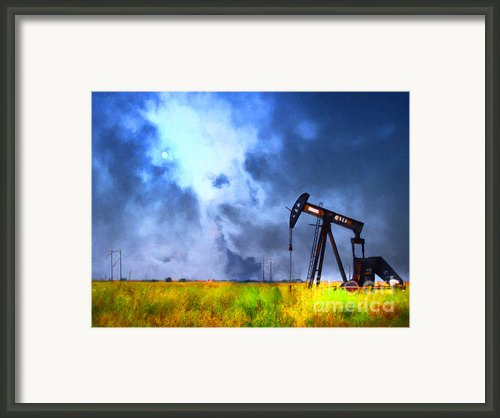 Oil Pump Field Framed Print By Wingsdomain Art And Photography