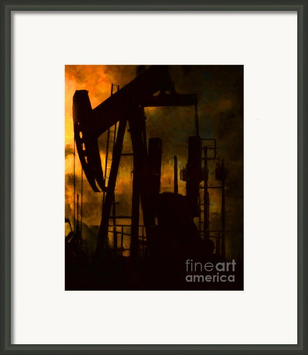 Oil Pumps - Vertical Framed Print By Wingsdomain Art And Photography