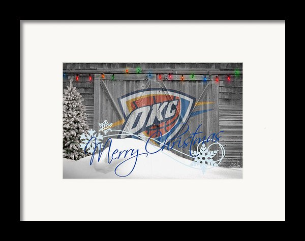 Oklahoma City Thunder Framed Print By Joe Hamilton