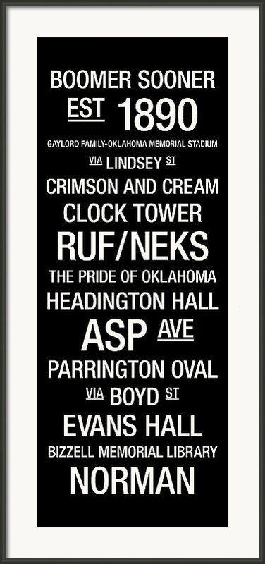 Oklahoma College Town Wall Art Framed Print By Replay Photos
