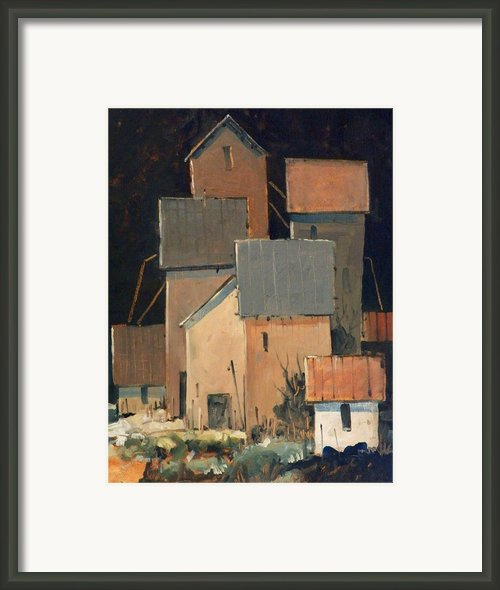Oklahoma Industry Framed Print By Micheal Jones