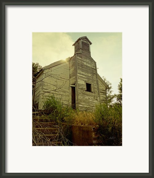 Old Abandoned Country  School Framed Print By Ann Powell