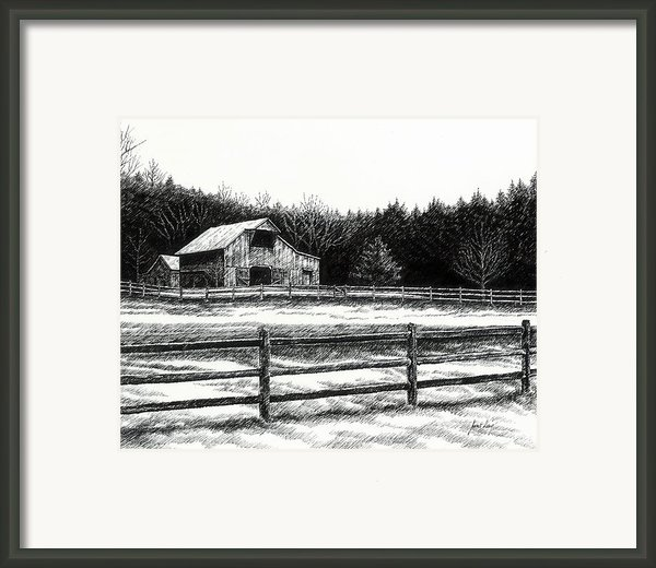 Old Barn In Franklin Tennessee Framed Print By Janet King