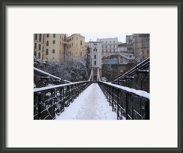 Old Bridge Of Constantine Framed Print By Boultifat Abdelhak Badou