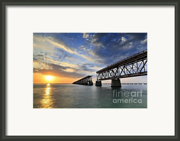 Old Bridge Sunset Framed Print By Eyzen Medina