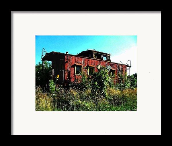 Old Caboose Framed Print By Julie Dant
