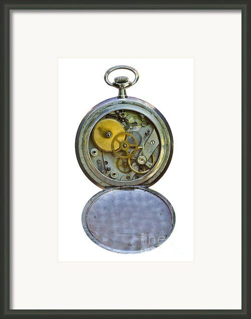 Old Clock Framed Print By Michal Boubin
