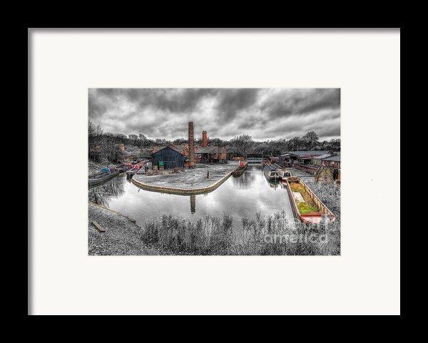 Old Dock Framed Print By Adrian Evans