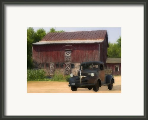 Old Dodge Truck Framed Print By Jack Zulli