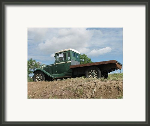 Old Dodge Truck  Framed Print By Steven Parker