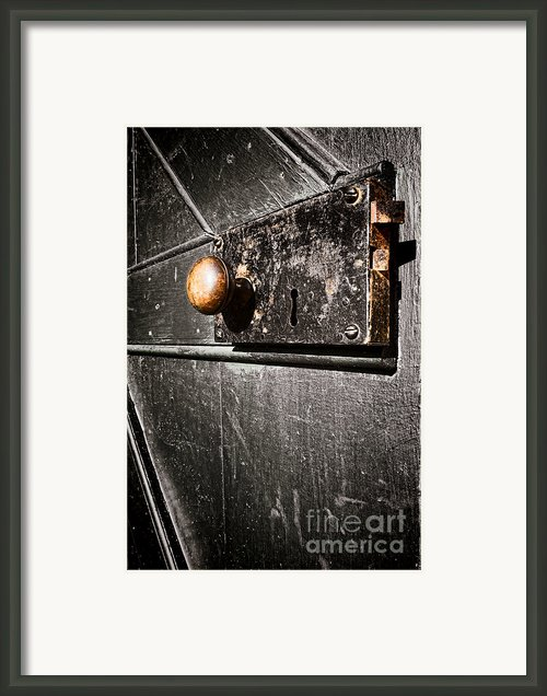 Old Door Lock Framed Print By Olivier Le Queinec