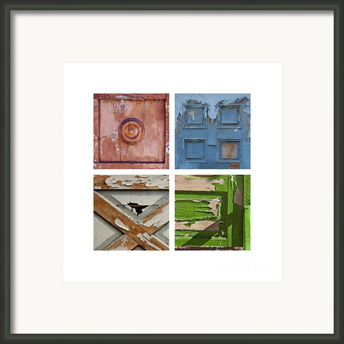 Old Door Panels Framed Print By Art Block Collections