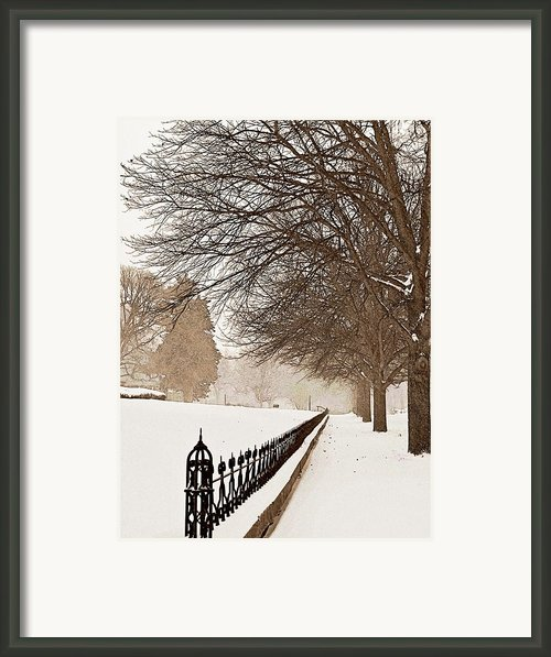 Old Fashioned Winter Framed Print By Chris Berry