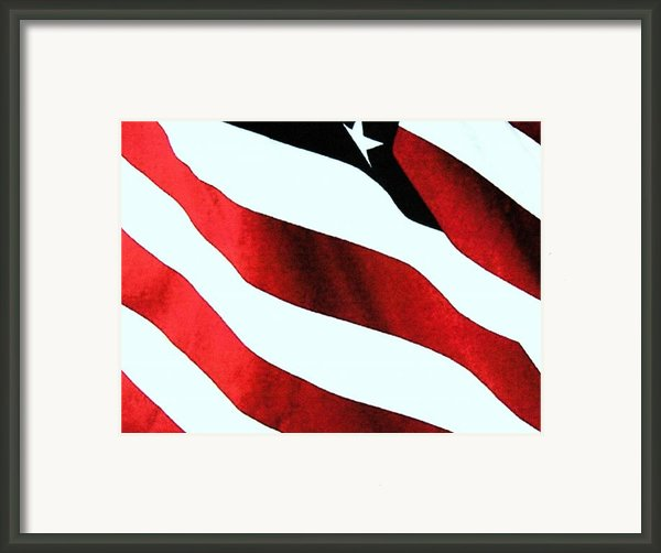 Old Glory Framed Print By Dan Twyman