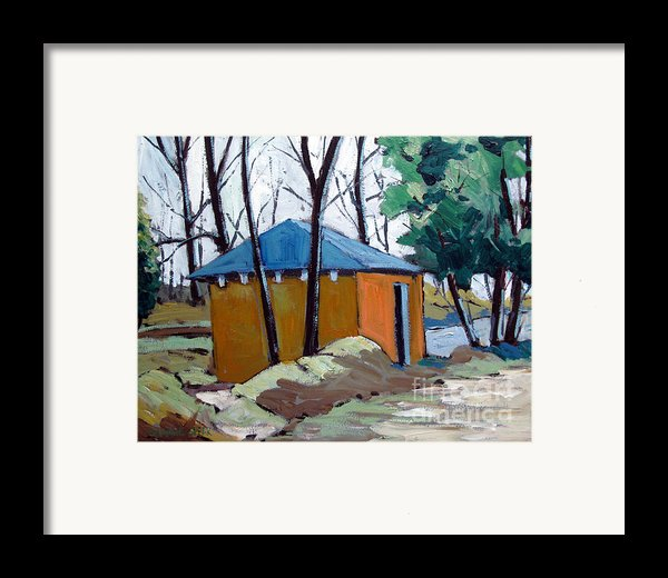 Old Golf Course Shed No.5 Framed Print By Charlie Spear