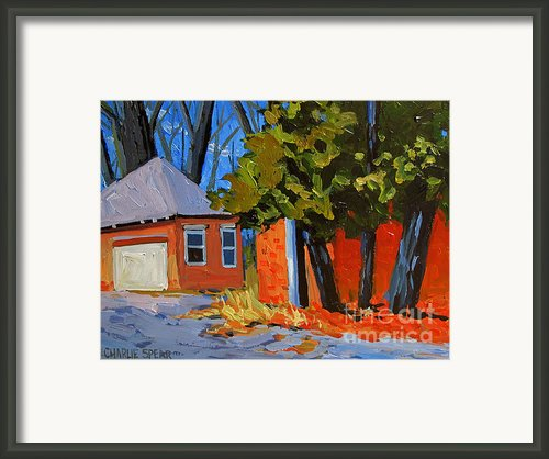 Old Golf Course Sheds Framed Print By Charlie Spear