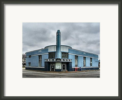 Old Greyhound Bus Terminal  Framed Print By Julie Dant