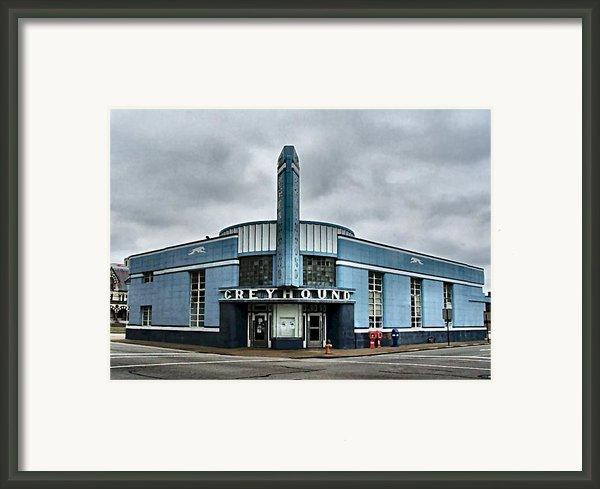 Old Greyhound Bus Terminal  Framed Print By Julie Dant