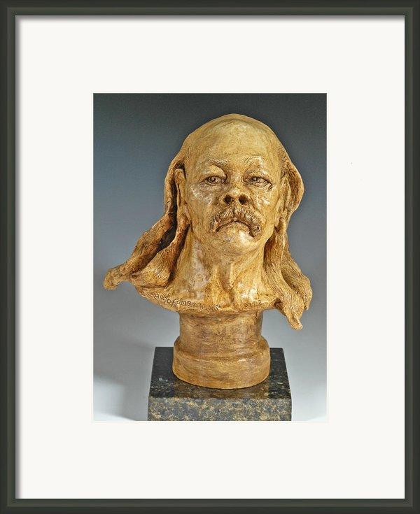 Old Hippie Framed Print By Eduardo Gomez
