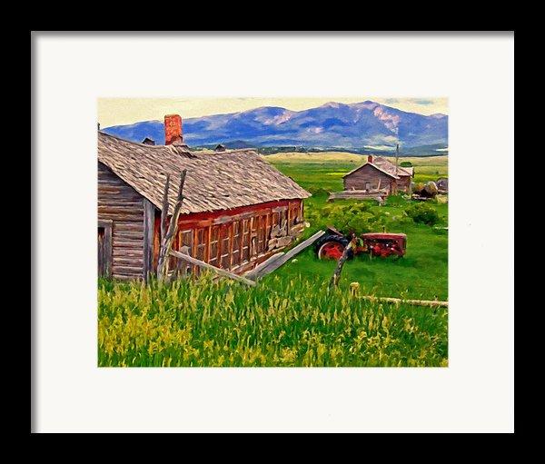 Old Homestead Near Townsend Montana Framed Print By Michael Pickett
