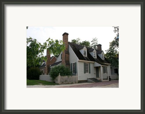 Old House In Colinial Williamsburg Framed Print By Christiane Schulze