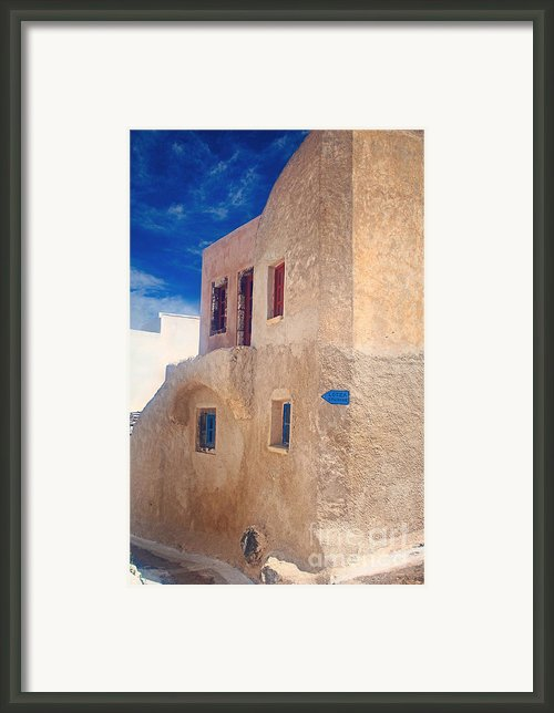 Old House In Oia  Framed Print By Aiolos Greek Collections