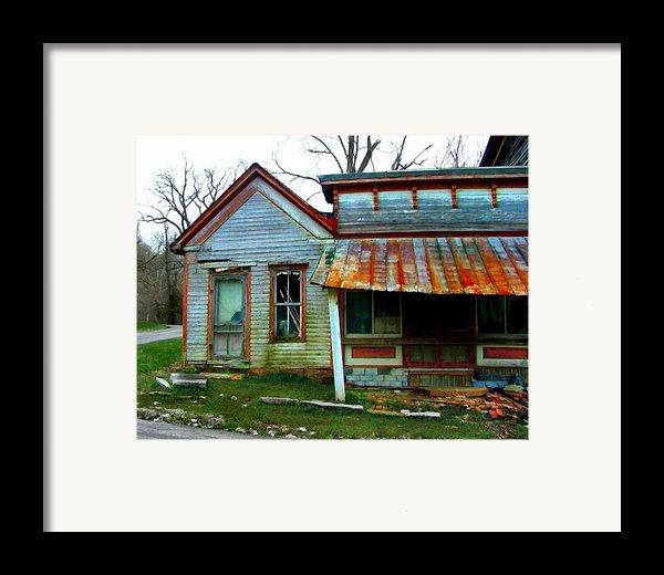 Old Leavenworth Indiana Framed Print By Julie Dant