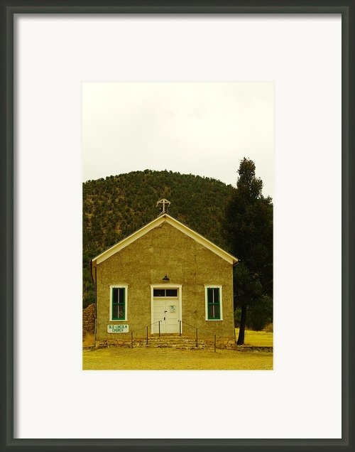 Old Lincoln City Church Framed Print By Jeff  Swan
