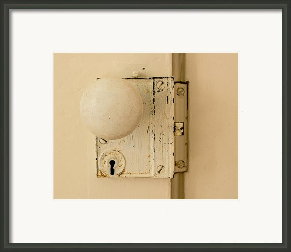 Old Lock Framed Print By Photographic Arts And Design Studio