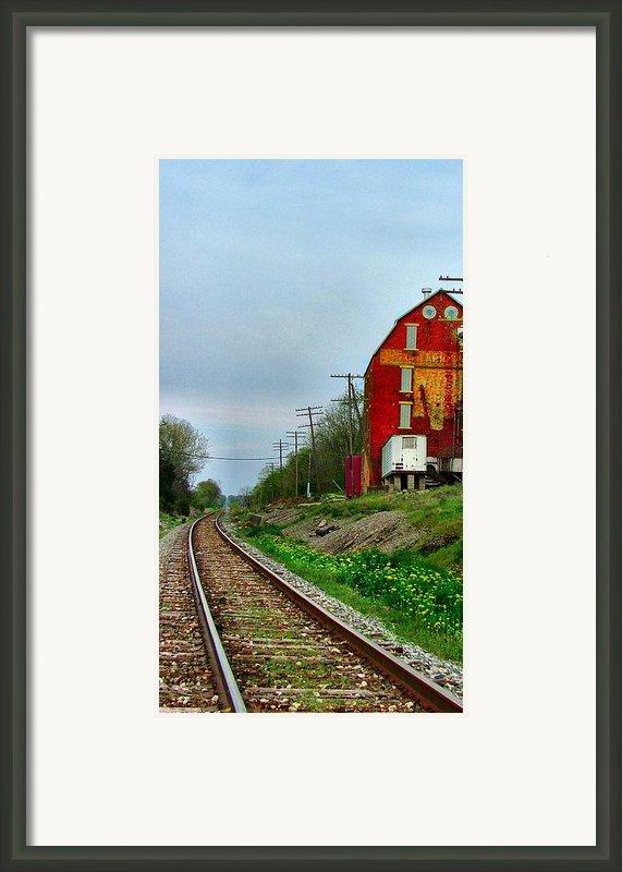 Old Mill On The Tracks Framed Print By Julie Dant