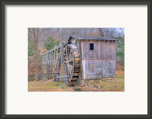Old Mill Water Wheel And Sluce Framed Print By Douglas Barnett