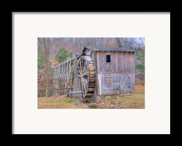 Old Mill Water Wheel And Sluce Framed Print By Douglas Barnett