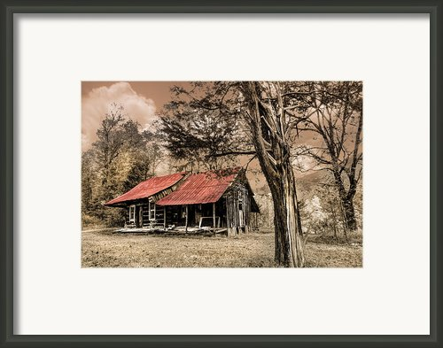 Old Mountain Cabin Framed Print By Debra And Dave Vanderlaan