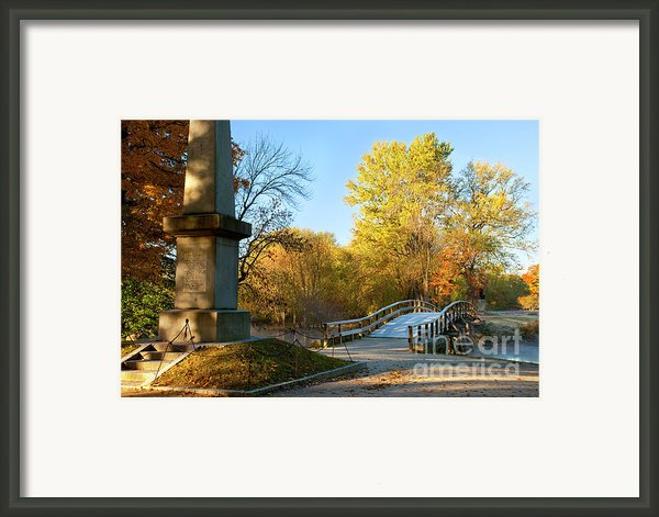 Old North Bridge Framed Print By Brian Jannsen