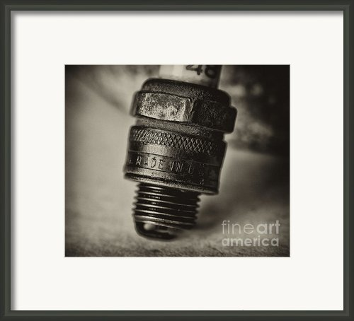 Old Number 48 Spark Plug Framed Print By Wilma  Birdwell