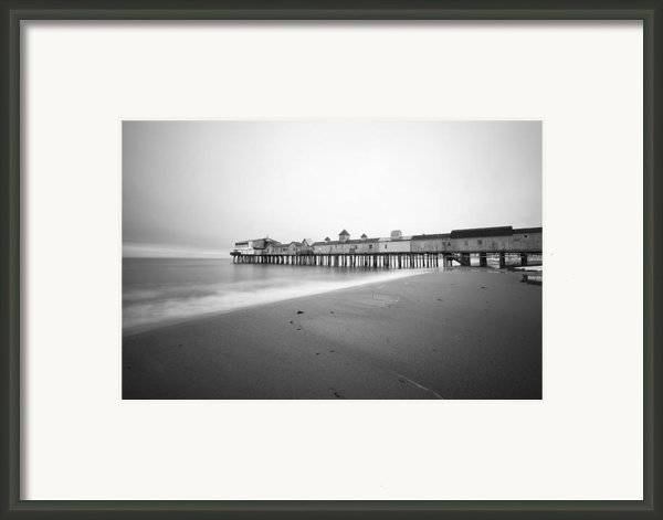 Old Orchard Beach Pier Framed Print By Eric Gendron
