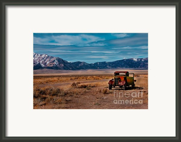 Old Pickup Framed Print By Robert Bales