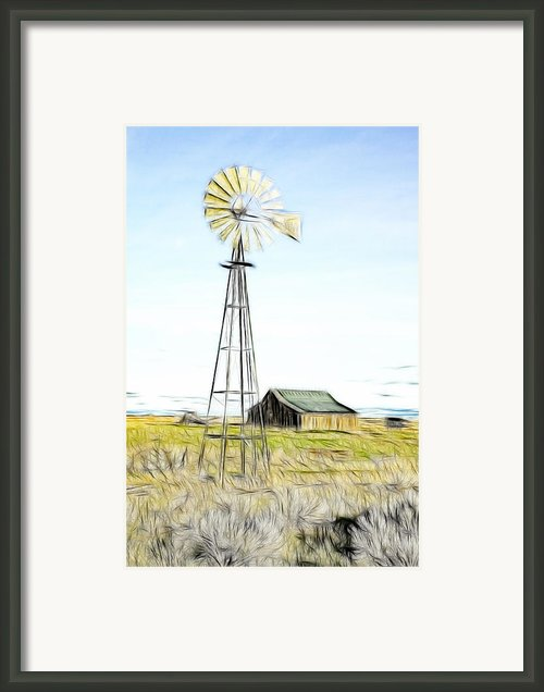 Old Ranch Windmill Framed Print By Steve Mckinzie