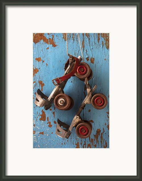 Old Roller Skates Framed Print By Garry Gay