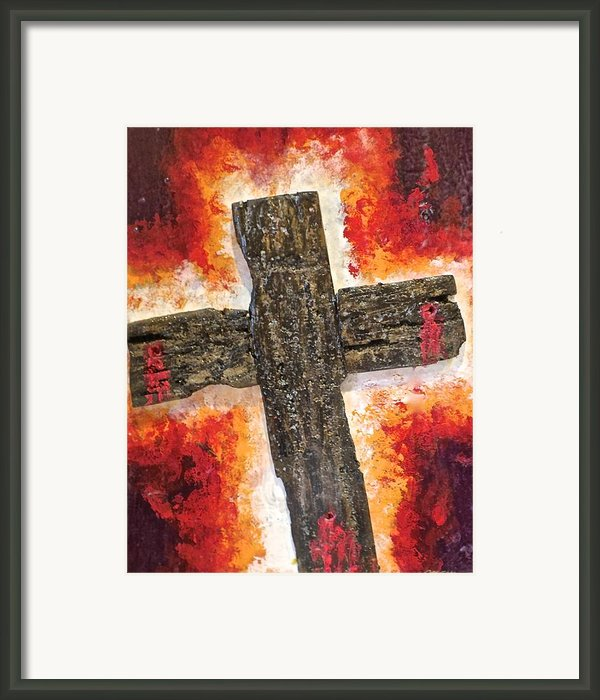 Old Rugged Cross Framed Print By Jim Ellis